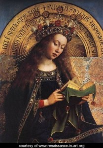 The-Ghent-Altarpiece--Virgin-Mary-(detail)-1426-29